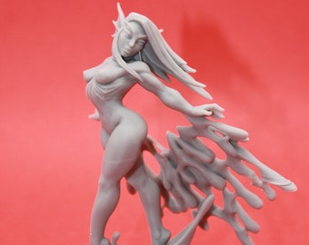 Nynphea (Triton Pinup) Sexy Pinup,   100mm Nymph Resin Miniature - for D&D Dungeons and Dragons or Tabletop Gaming, Artisan Guild