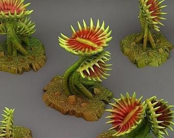 Carnivorous  Plants  Terrain Set of 5 Dungeons and Dragons, Pathfinder, Tabletop Gaming 28/32mm Terrain RPG