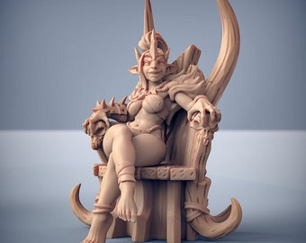 Trixia the Hobgoblins Queen, 28mm Resin Miniature - for D&D Dungeons and Dragons or Tabletop Gaming, Artisan Guild