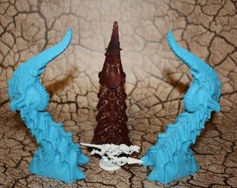 Bio Terrain Spire Nodes Wargames Alien Terrain Scenery 40K