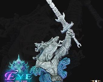 Zulkaz Storm Troll Bust - Archvillian Games Dungeons and Dragons/ RPG /Resin Miniature/Pathfinder