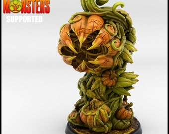 Pumpkin Plant Miniature, Resin 3D Printed 28mm 32mm Tabletop RPG 3D Printed, Great for Dungeons and Dragons, Pathfinder and Warhammer