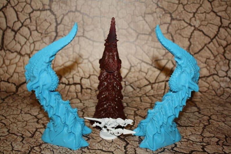 Bio Terrain Spire Node - Wargames Alien Terrain Scenery 40K Tyranid Terrain  3D Printed Single Spire