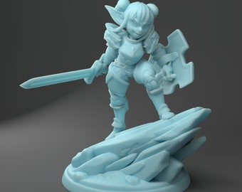 Pint the Goblin Paladin 100mm Dungeon and Dragons, Pathfinder, Role Playing Miniature