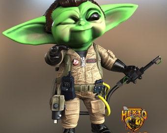 Venkman Grogu Ghostbusters/Baby Yoda Mash Up Resin 3D Printed Figurine