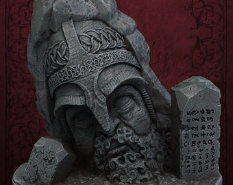 Warrior's Statue - Unpainted Terrain for TTRPGs (D&D, DnD, Dungeons and Dragons, Pathfinder, Frostgrave)