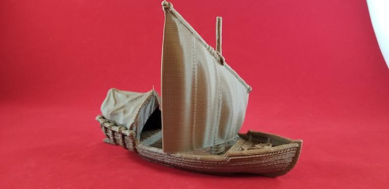 Modular Skiff Boat/Ship DnD Boat Wargames Tabletop Scenery 3D Printed