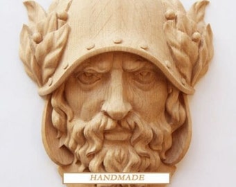 Dionysus Hand-carved Mask Reproduction Ancient Greek Oak Quality Carving