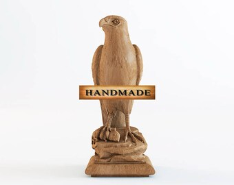 Eagle - High Quality Hand-carved Top for Newel Stair Carved Wood Oak Corbels Decor Front Pillar Cottage Chic Style Animals