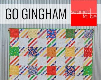 Go Gingham Quilt PDF Pattern