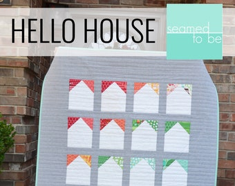 Hello House Baby Quilt PDF Pattern