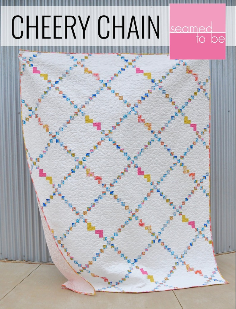 Cheery Chain Quilt PDF Pattern image 0