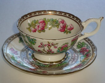 Vintage Coalport INDIAN TREE Tea Cup and Saucer + Extra Cup