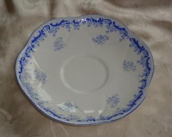 Shelley HEAVENLY BLUE Cream Soup Saucers
