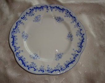 Lot of 3 Shelley HEAVENLY BLUE Bread and Butter Plates