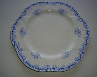 Lot of 2 Shelley HEAVENLY BLUE Dinner Plates