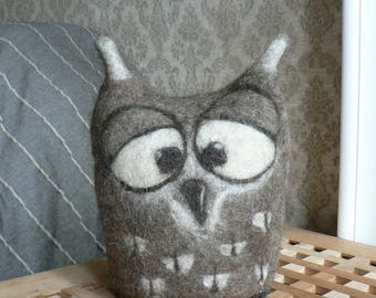 Wet felted lovely owl