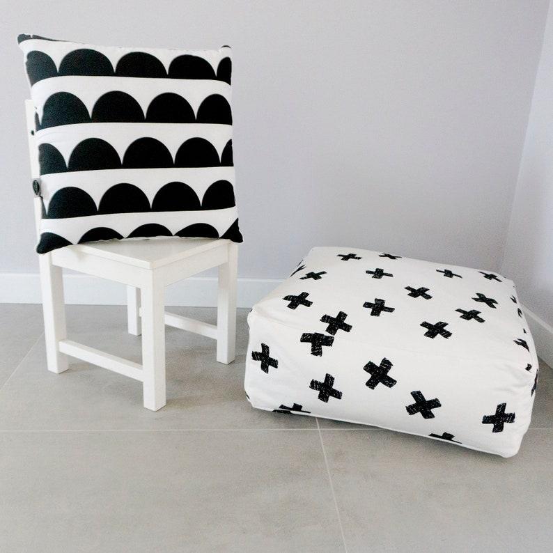 Monochrome Pillow Black And White