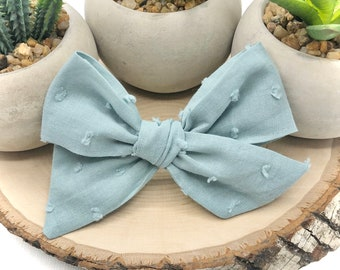 Schoolgirl Bow Dotted Swiss Sailor Bow Clip Dot Bow White Swiss Dot Bow BUY 3 GET 1 FREE! 12 Styles Pigtail Bow Tuxedo Bow
