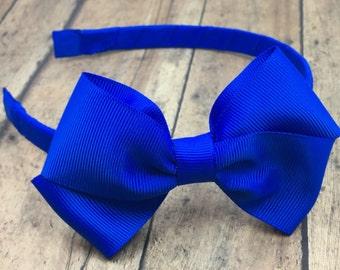 DESIGNER INSPIRED ROYAL BLUE FABRIC KNOT HEADBAND