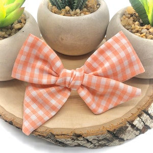 12 Styles Fall Bow Pigtail Bow 38 Summer Bow Sailor Bow Roasted Pecan Gingham Bow Tuxedo Bow   Schoolgirl Bow BUY 3 GET 1 FREE!
