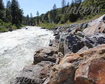 16x20 photo print of the Truckee River on  luster paper