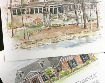 "8"" x 10"" Watercolor Home Commission"