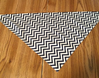 Large Blue Striped Cotton Bandana