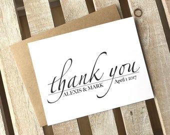 Wedding Thank You Cards!  Custom Thank You, Custom Wedding Thank You, Wedding Cards, Custom Thank You's, Wedding Gifts & Thank You Cards