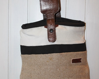 Wool and leather bag
