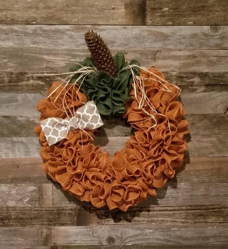 Thanksgiving wreath fall decor! Halloween wreath Super cute burlap pumpkin wreath pumpkin wreath Fall wreath autumn wreath