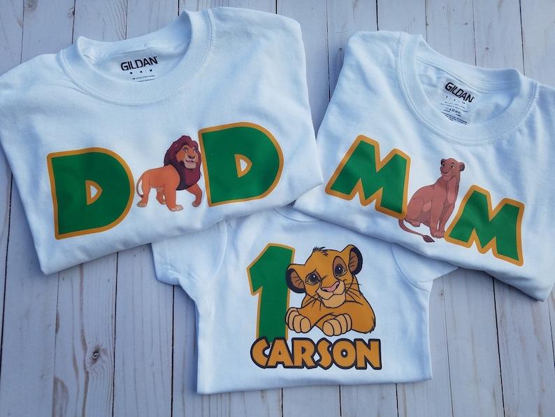 ab9e6ae9 Lion king shirts lion king first birthday lion king birthday | Etsy