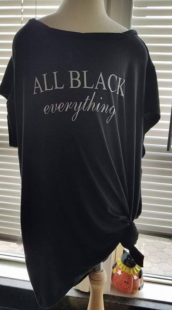 b22cdae00 all black everything shirt   Etsy