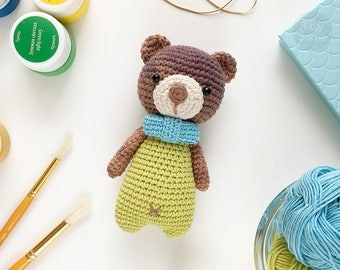 Sweet Teddy Bear Pattern Amigurumi Crochet Toy | PDF Pattern Crochet Soft Toy | Animal Amigurumi | Crochet Toy Pattern | PDF Crochet Pattern