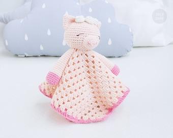 Sleepy Pig Lovey Pattern | Security Blanket | Crochet Lovey | Baby Lovey Toy | Blanket Toy | Lovey Blanket PDF Crochet Pattern