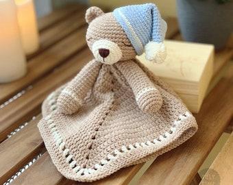 Teddy Bear Lovey Crochet Pattern | Security Blanket | Comforter | PDF Crochet Pattern