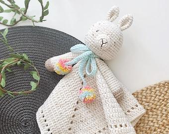 Sleepy Llama Lovey Crochet Pattern | Security Blanket | Comforter | PDF Crochet Pattern