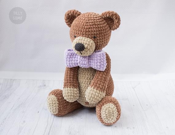 Big Plush Teddy Bear Crochet Pattern Large Crochet Toy Pattern