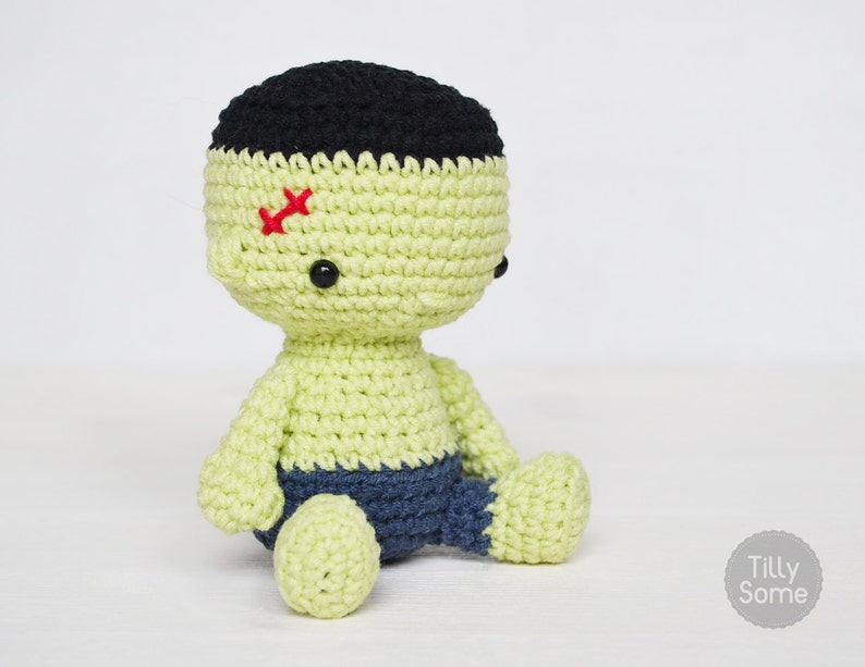Little Frankenstein  Amigurumi  Stuffed Toy  PDF Crochet image 0