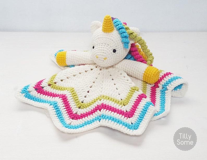 Sweet Unicorn Lovey Pattern Security Blanket Crochet Lovey Etsy
