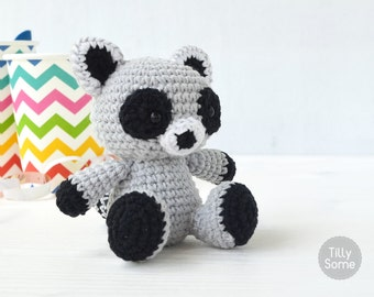 Raccoon Amigurumi Pattern | Raccoon Crochet Pattern | Crochet Toy Pattern | Crochet Soft Toy | Animal Amigurumi | PDF Pattern