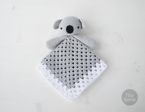 Koala Bear Lovey Pattern Security Blanket Crochet Lovey Etsy