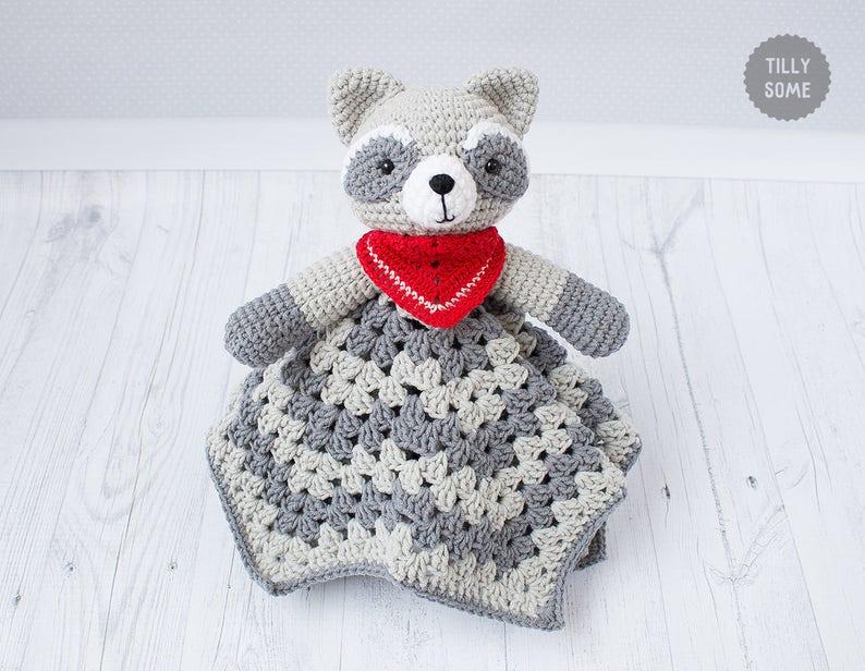 Raccoon Lovey Pattern Security Blanket Crochet Lovey Etsy