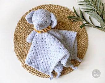 Sleepy Elephant Lovey Crochet Pattern | Security Blanket | Comforter | PDF Crochet Pattern