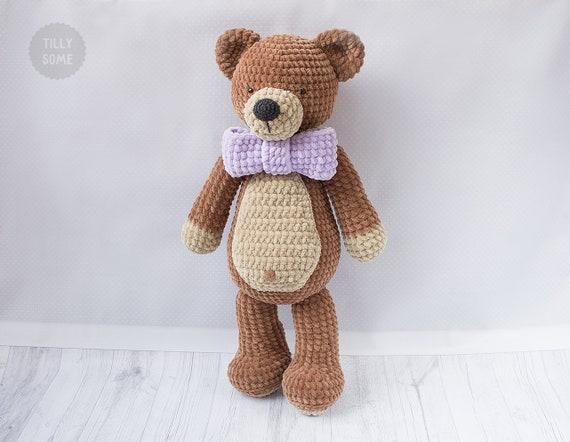 Big Plush Teddy Bear Crochet Pattern Large Crochet Toy Etsy