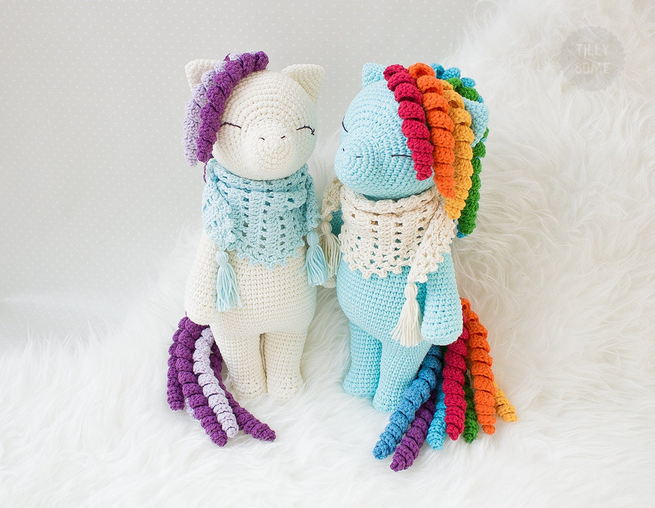 Amigurumi Pattern Rainbow the Pony Crochet Unicorn Pattern   Etsy
