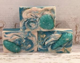 Salty Sea Air- Sea Salt Soap Bars-Luxury Salt Bars-Sea Shells