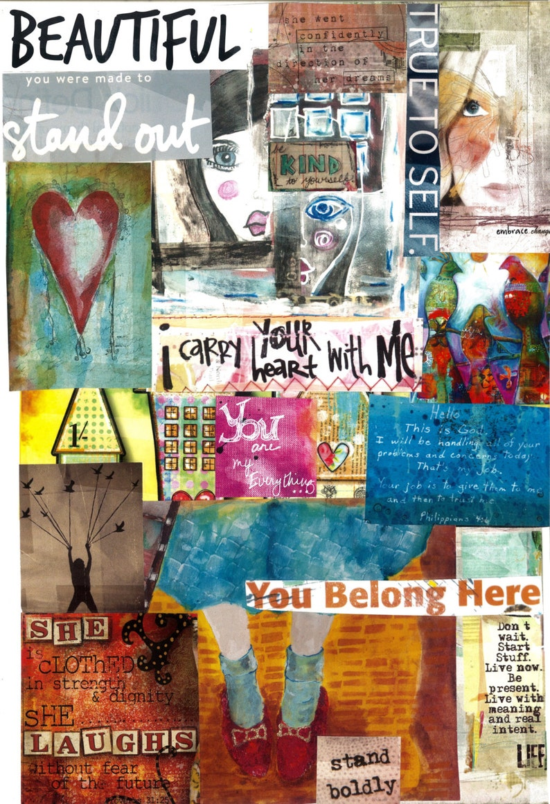 Beautiful you were made to stand out 5x7 inches Handmade Collage Card