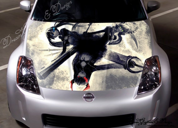 System Hood Full Color Graphic Adhesive Vinyl Sticker Wrap Decal Fit any Car 138