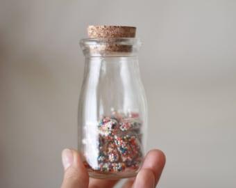 rainbow sprinkle pills // edible confetti / happy pills / rainbow confetti / party favors / rainbow sprinkles